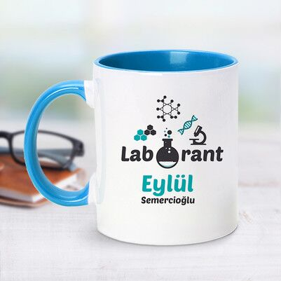 - Laborant İçin Mavi Kupa Bardak