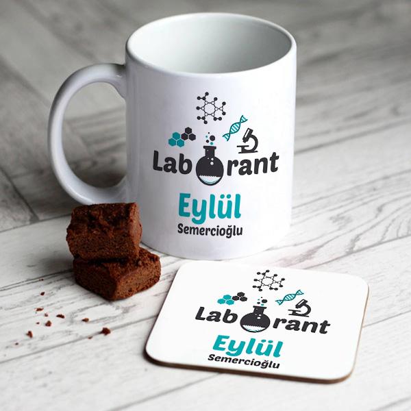 Laborantlara Özel Kupa ve Bardak Altlığı
