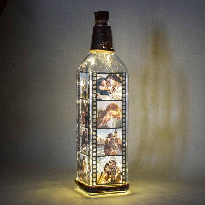Led Işıklı Film Şeridi Dekoratif Şişe Lamba