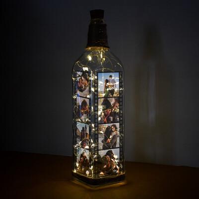 Led Işıklı Film Şeridi Dekoratif Şişe Lamba - Thumbnail