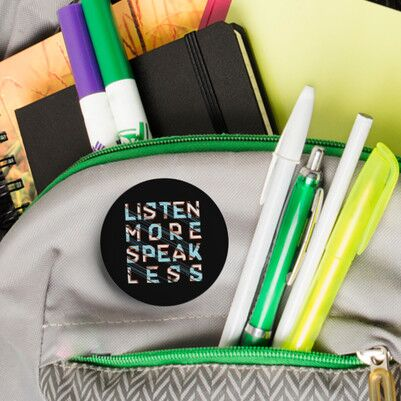 Listen More Speak Less Buton Rozet - Thumbnail