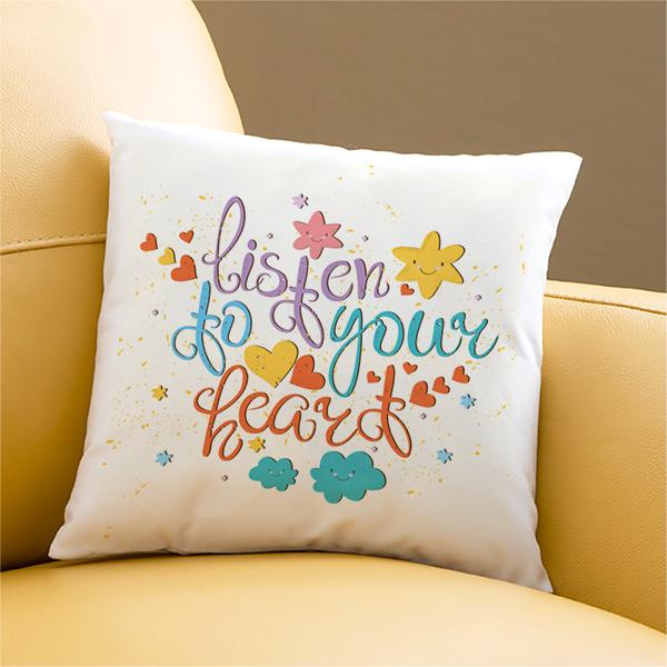 Listen To Your Heart Sevgili Yastığı