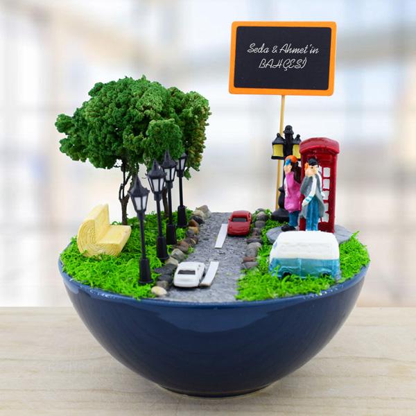 Londra Temalı Minyatür Bahçe