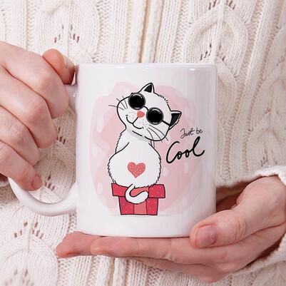 - Love Cat Tasarım Kupa Bardak