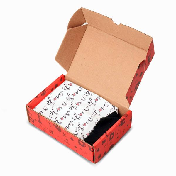Love Desenli Romantik Çorap