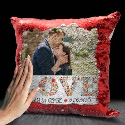 - Love Fotoğraflı Sihirli Yastık