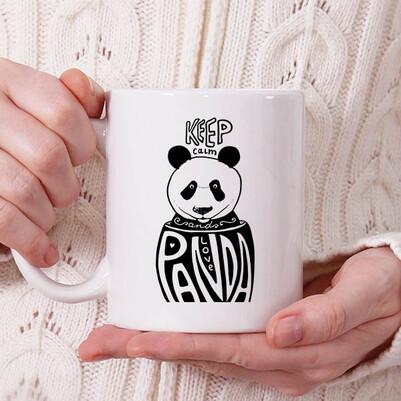- Love Panda Tasarım Kupa Bardak