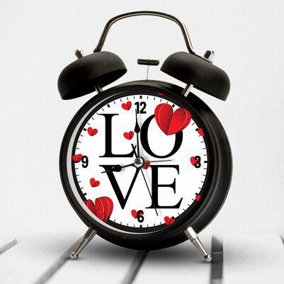 Love Tasarımlı Romantik Çalar Saat - Thumbnail