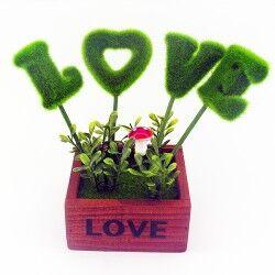 - Love Yazılı Romantik Masa Üstü Süsü