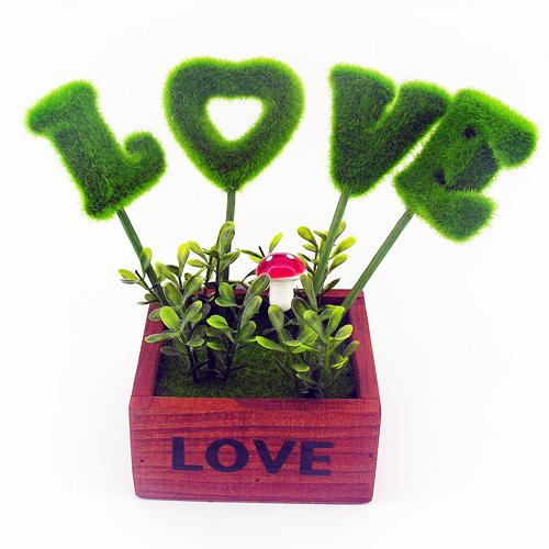 Love Yazılı Romantik Masa Üstü Süsü