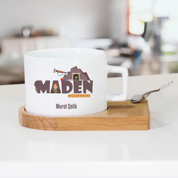 Maden Mühendislerine Özel Lüks Çay Fincanı