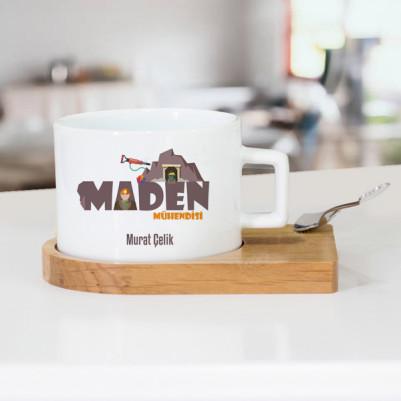 - Maden Mühendislerine Özel Lüks Çay Fincanı