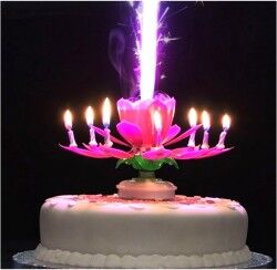 Magic Candle - Sihirli Çiçek Pasta Mumu - Thumbnail