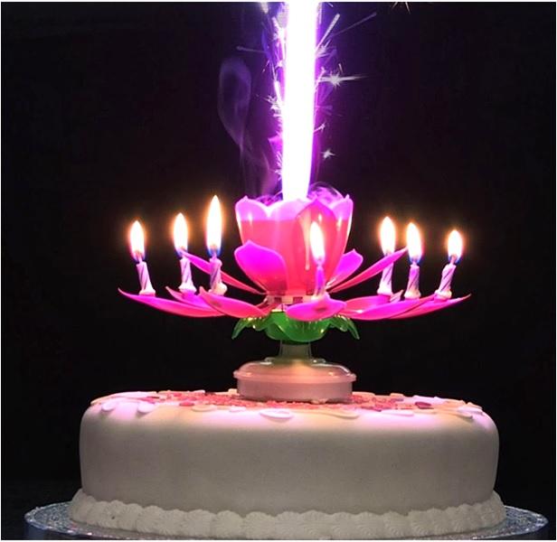 Magic Candle - Sihirli Çiçek Pasta Mumu