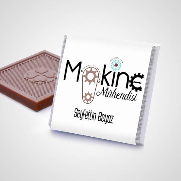 Makine Mühendisine Hediye Çikolata Kutusu