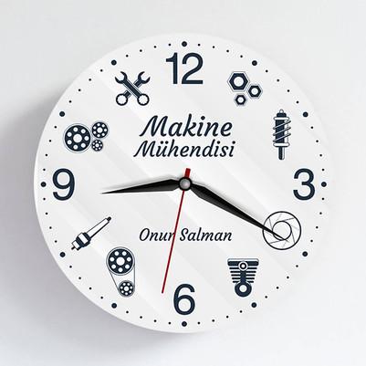 - Makine Mühendisine Hediye Duvar Saati