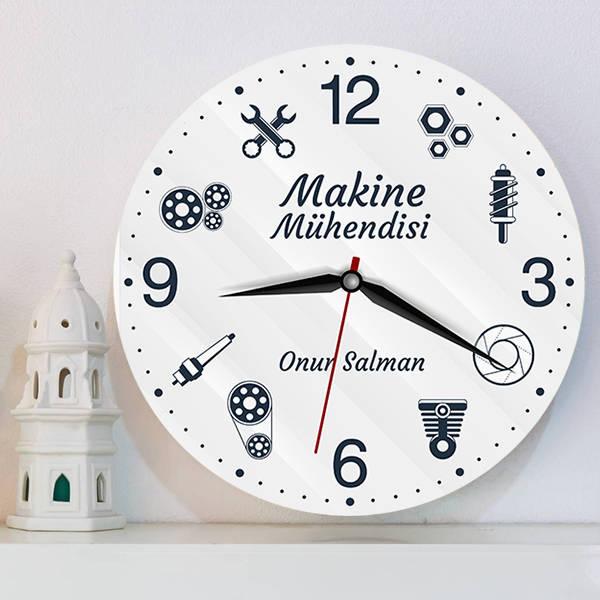 Makine Mühendisine Hediye Duvar Saati