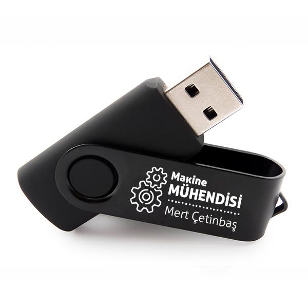 Makine Mühendisine Hediye Siyah USB Bellek