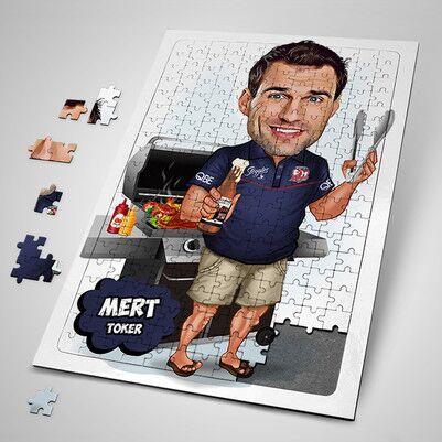 - Mangalcı Erkek Karikatürlü Puzzle