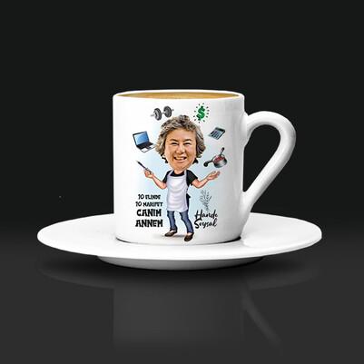 - Marifetli Annem Karikatürlü Kahve Fincanı