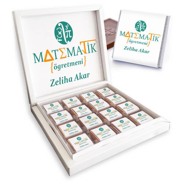 Matematik Öğretmenine Hediye Çikolata Kutusu