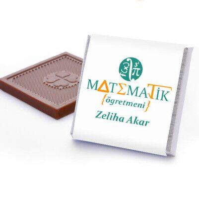 Matematik Öğretmenine Hediye Çikolata Kutusu - Thumbnail