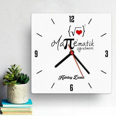 - Matematik Öğretmenine Hediye Duvar Saati