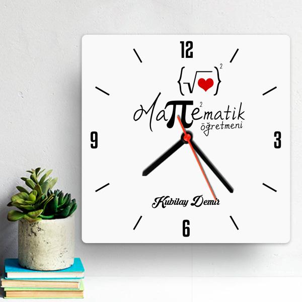 Matematik Öğretmenine Hediye Duvar Saati