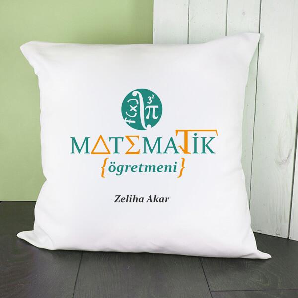 Matematik Öğretmenine Hediye Kare Yastık