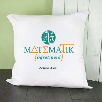 - Matematik Öğretmenine Hediye Kare Yastık