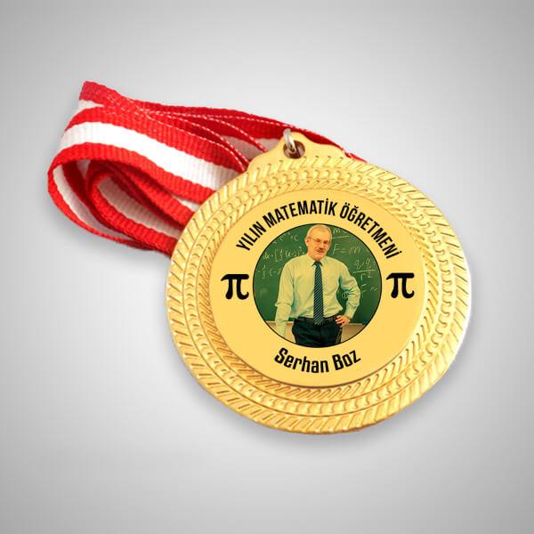 Matematik Öğretmenine Hediye Madalyon