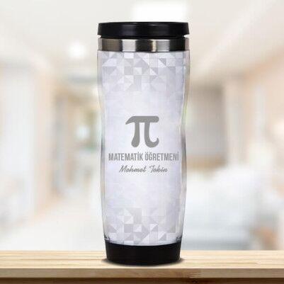 - Matematik Öğretmenine Hediye Termos Bardak