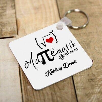 - Matematik Öğretmenine Özel Hediye Anahtarlık