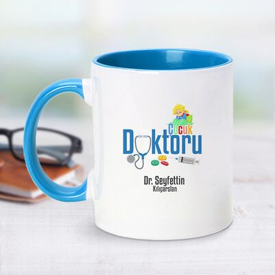 - Mavi Kupa Bardak Çocuk Doktorlarına Özel