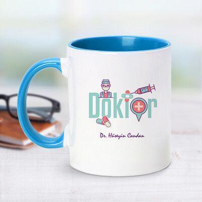 - Mavi Kupa Bardak Doktor Tasarımlı