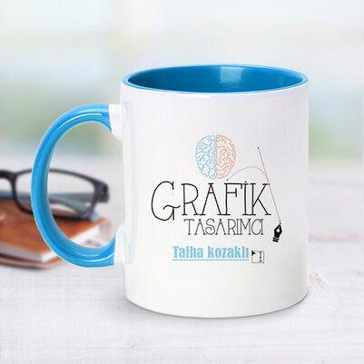 - Mavi Kupa Bardak Grafik Tasarımcılarına Özel
