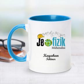 - Mavi Kupa Bardak Jeofizik Mühendislerine Özel