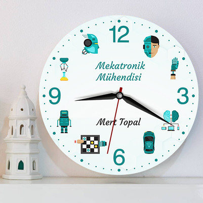 Mekatronik Mühendisine Hediye Duvar Saati - Thumbnail