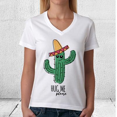 Meksikalı Kaktüs Unisex Tişört - Thumbnail