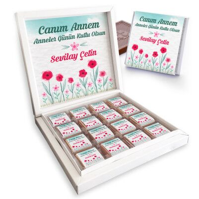 - Mesajlı Anneler Günü Temalı Çikolata