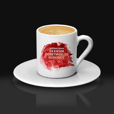 Mesajlı Öğretmene Hediye Kahve Fincanı - Thumbnail