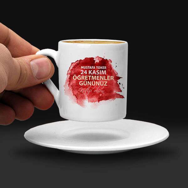 Mesajlı Öğretmene Hediye Kahve Fincanı