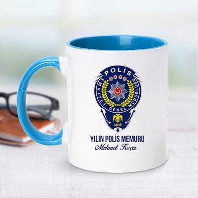 - Mesajlı Polis Logolu Mavi Kupa Bardak