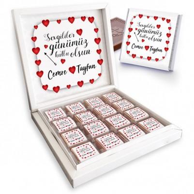 - Mesajlı Sevgililer Günü Çikolata Kutusu