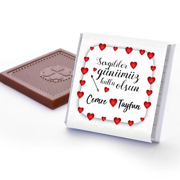 Mesajlı Sevgililer Günü Çikolata Kutusu