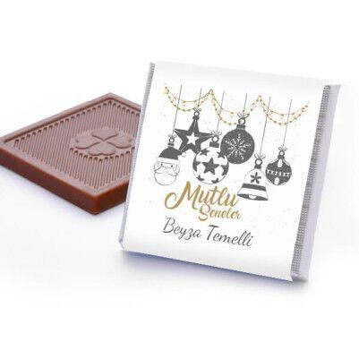 Mesajlı ve İsme Özel Yılbaşı Çikolata Kutusu - Thumbnail