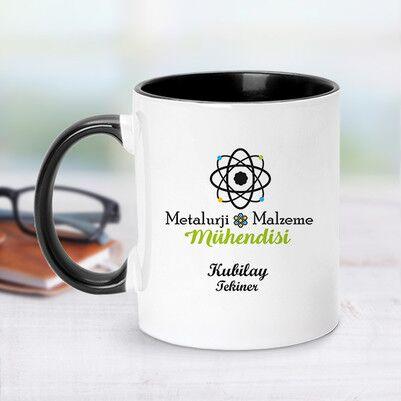 - Metalürji Mühendisi İçin Siyah Kupa Bardak