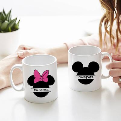 - Mickey Cartoon İkili Sevgili Kupası