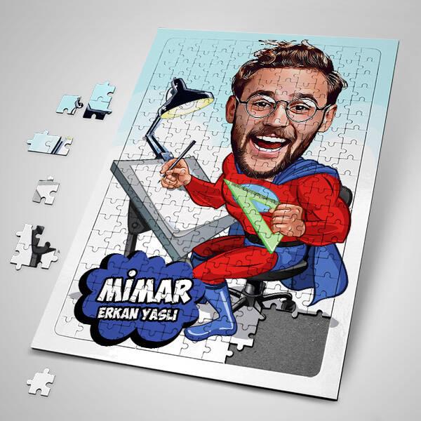 Mimar Karikatürlü Puzzle