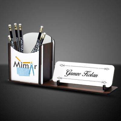 - Mimarlara Özel Masa İsimliği ve Kalemlik